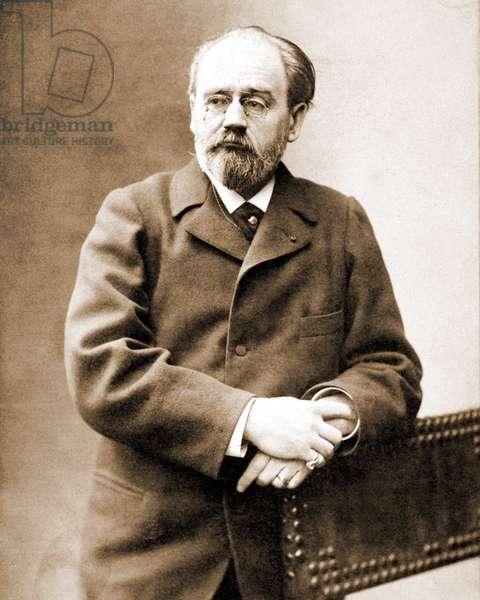 Portrait of Emile Zola (1840 - 1902) French writer.
