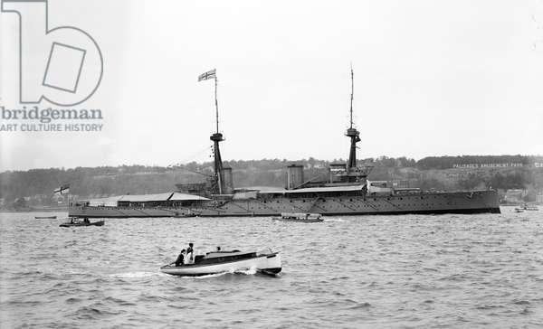 First World War: view of the inflexible British Bassbreaker HMS.