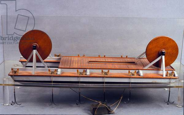 River dredge, model of Leonard de Vinci (Leonardo da Vinci) (1452 - 1519). Museum of Science and Technology, Milan.