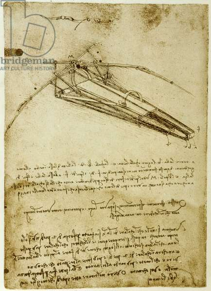 The Machine for flying by Leonardo da Vinci (Leonardo da Vinci) - Codex Atlantique