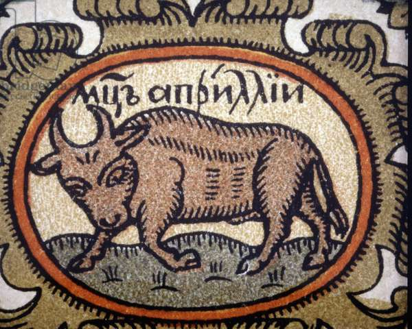 The sign of the Taurus. Russian horoscope from the beginning of the 20th century. Anonymous.