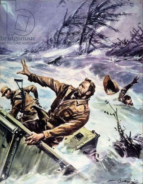 """Fidel Castro participated in the resistance against a hurricane in 1963 - in """"La Tribuna Illustrata"""", 27 October 1963."""