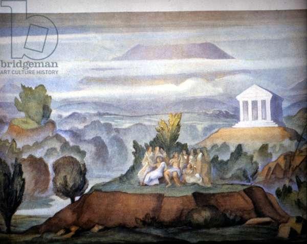"Monteverdi """" Orfeo"""", Opera scene of 16 March 1935"