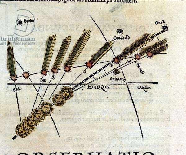 Study on comets - in Astronomicon caesarum, treatise of the 16th century.