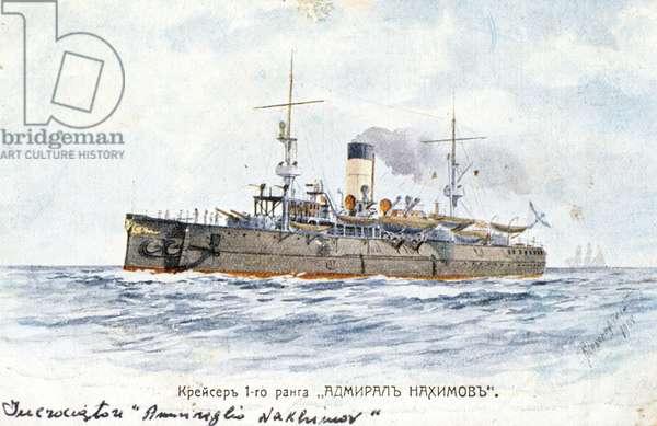 Bateau russe Amiral Nakhimov, 1904.