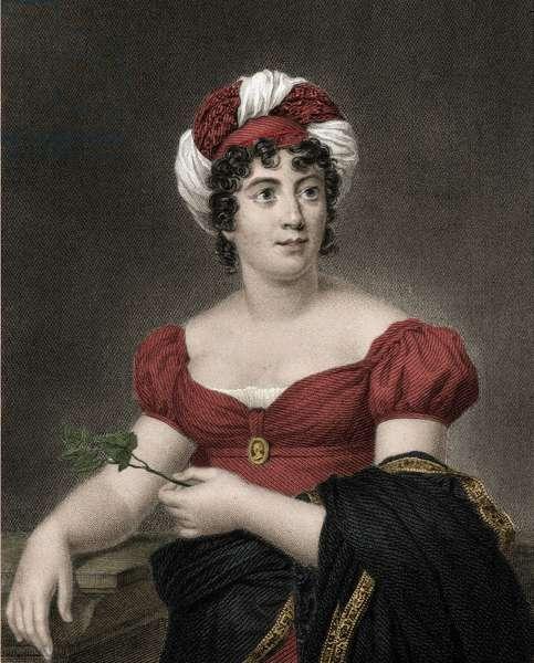 Portrait of Germaine Necker, Baroness of Stael Holstein called Madame de Stael (1766-1817)