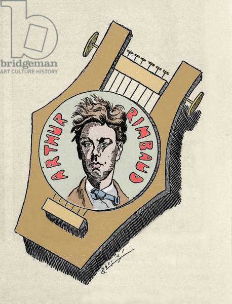 "Representation of the poet Arthur Rimbaud (1854-1891) from """" Poetes cursed"""" 20th century"