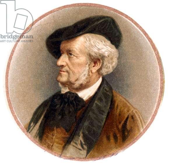 Portrait of Richard Wagner (1813 - 1883). 19th century chromolithography.