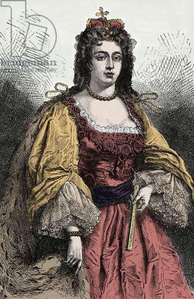 Queen Anne - Portrait of Anne Stuart (1665-1714), Queen of England, Ireland and Scotland -