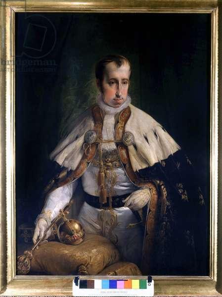 Portrait of Ferdinand I (1793 - 1875), Emperor of Austria by Francesco Hayez (1791 - 1882). Museo del Risorgimento. Milan