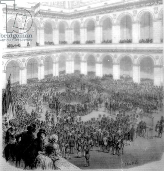 Paris Stock Exchange in 1850.