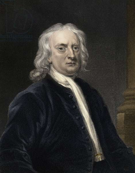 Portrait of Isaac Newton (1642-1727) English physicist