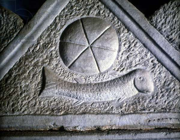 Ictus: fish, Christian symbol. 2nd century.