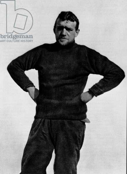 Portrait of Ernest Henry Shackleton (1874-1922) British explorer of Antarctica - Photography around 1910