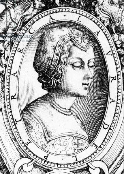Portrait of Laure de Sade (1310-1348), also known as Laura de Noves muse by Petrarque.