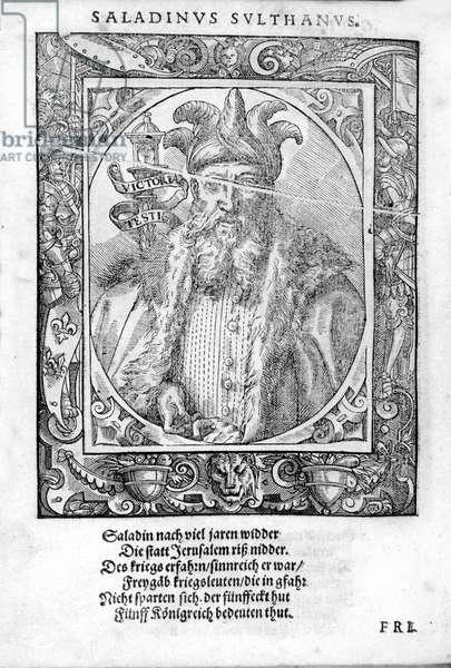 Portrait of Saladin (1138-1193) (Salah al Din Yusuf al-Ayyubi (al Ayyubi).