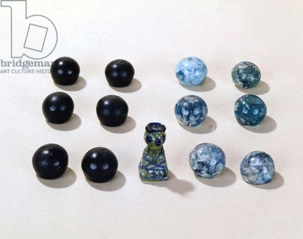 Chess game pieces from the Viking town of Birka (glass)