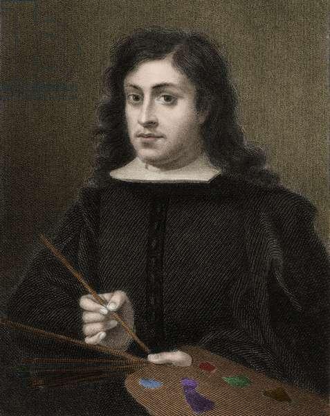 Bartolome Esteban Murillo c1618-1682 - engraving - 19th century