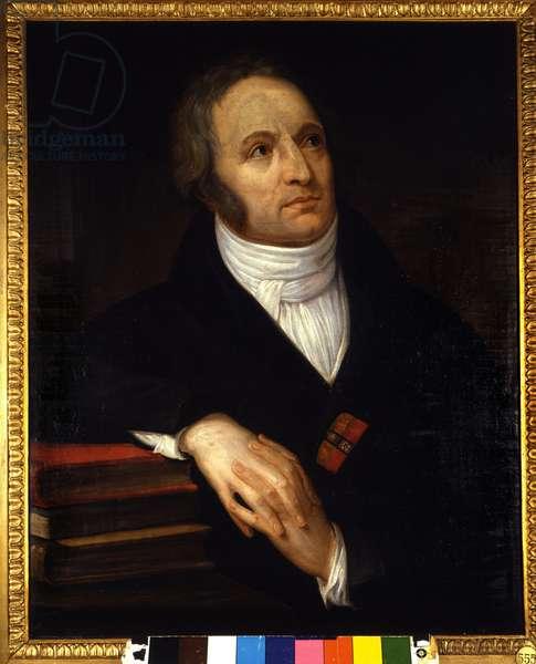 Portrait of Vincenzo Monti (1754 - 1828), Italian poet. Painting by Andrea Appiani (1754-1819). 1809. Pinacoteca di Brera, Milan