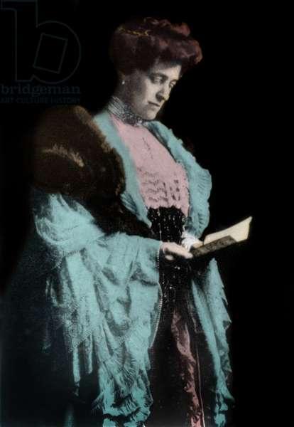 Portrait of Edith Wharton (1862-1937), American novelist.