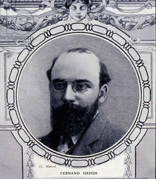 portrait of Fernand Gregh (1873 - 1960), french poet