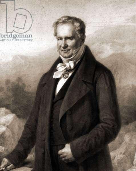 Portrait of Alexander Von Humboldt (Alexander of Humboldt, 1769-1859), German naturalist and explorer.