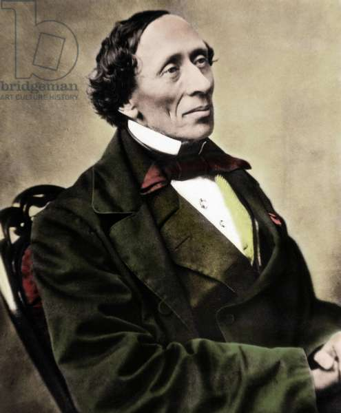 Portrait of Danish writer and poet Hans Christian Andersen (1805-1875). Photograph of the 1860s.