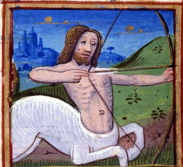 Sign of Sagittarius. Italian Horoscope, mid-15th century.