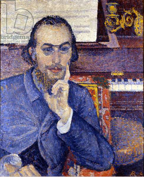 Portrait of composer Erik Satie Painting by Antoine de La Rochefoucauld (1862 - 1959). 1894 Society of Friends of Erik Satie. Paris. Rights Reserved (Attention! Use of this work may be subject to an application for authorization to a third party or to the payment of additional fees).