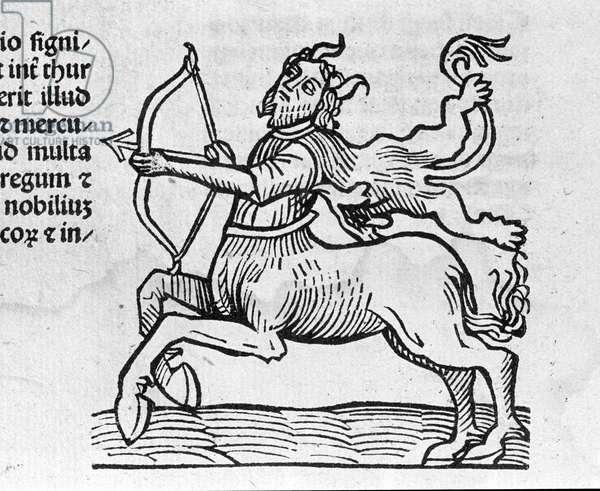 Le Sagittarius - in Treatise by Johannes Angeli De Magnisconnectionibue annorum revolutionibus ac eorum pefectionibus. Augsburg, Erhard Ratdolt, 1489