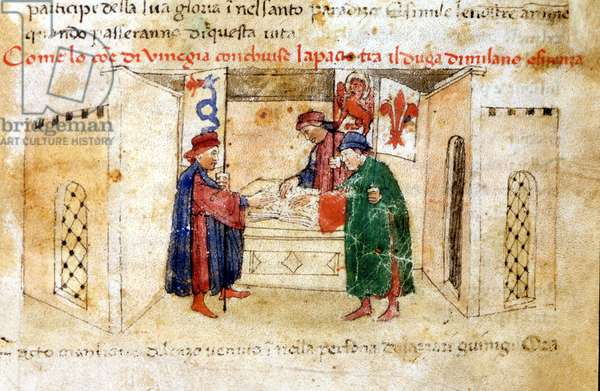 Peace between Venice, the Duke of Milan and France.