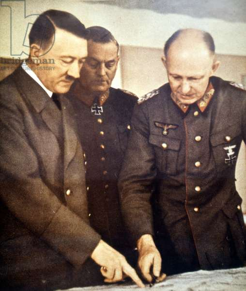 Hitler with Field Marshal Wilhelm Keitel and General Alfred Jodl. 1944.