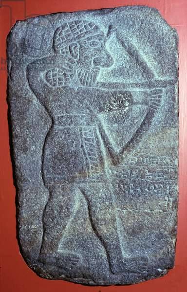 Archer of the Mitanni Empire. Bas-relief of Tell Halaf, 10th century BC from the palace of King Kaparra near Ras-el'ain in Guzana (North East of Syria). British Museum