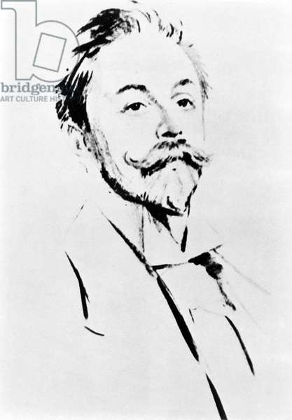 Portrait of the Russian composer Alexander Scriabin or Skriabin (1872 - 1915).