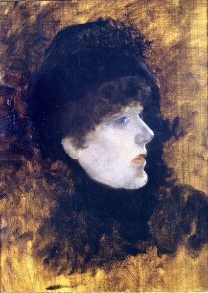 Portrait of Henriette Rosine Bernard dite Sarah Bernhardt (1844-1923) - by De Nittis