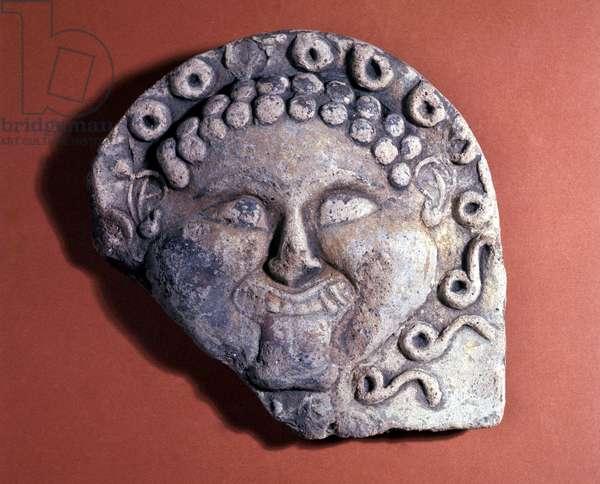 Head of Medusa, antefix from Catanzaro's Marina (terracotta)