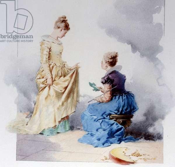 Cinderella. Illustration by Edouard de Beaumont, 1887.