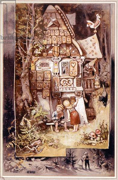 Hansel and Gretel, tale by Grimm - illustration by Hermann Vogel, 1895