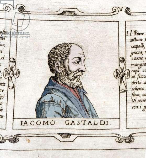 Portrait of the cartographer (geographer) Giacomo Gastaldi (? - 1566).