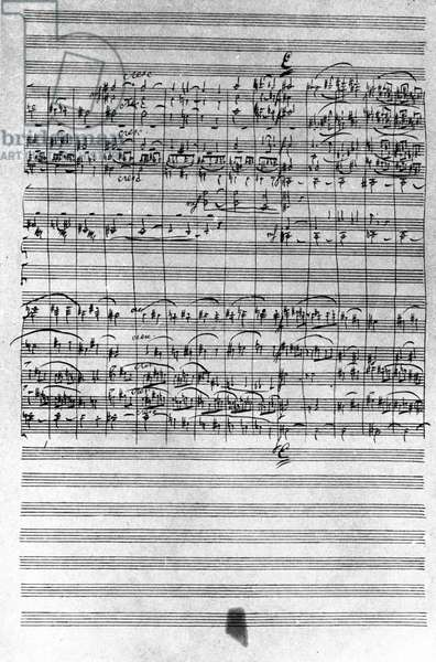 Manuscript of the score of the ballet Nutcracker by Piotr or Petr Ilyich Tchaikovsky (or Tchaikovsky or Ciajkovskij or Tchaikowsky, 1840 - 1893), 1891-1892.