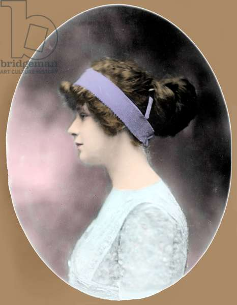 Portrait of Madeleine Talmadge Force wife of millionaire John Jacob Astor IV (1864-1912) They were passengers during the sinking of the Titanic in April 1912. Photography