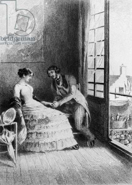 """Illustration of the novel """""""" Madame Bovary"""""""" by Gustave Flaubert (1821-1880). Illustration by Albert Fourie (1854-1937)."""