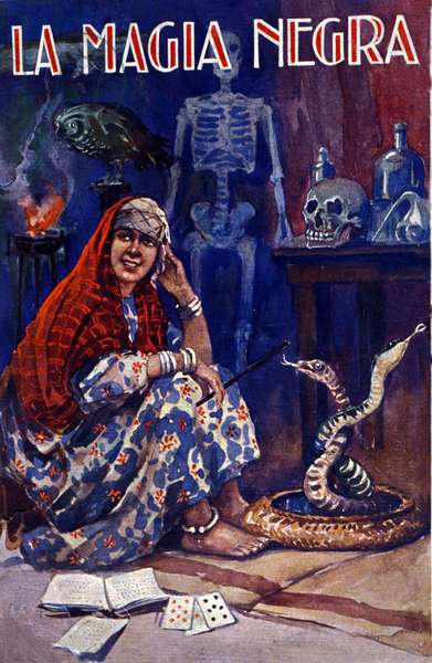 A North African witch, practicing black magic. 20th century