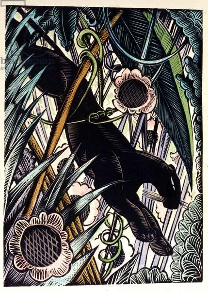 "Rudyard Kipling ""The Jungle Book"", 1934 (drawing)"