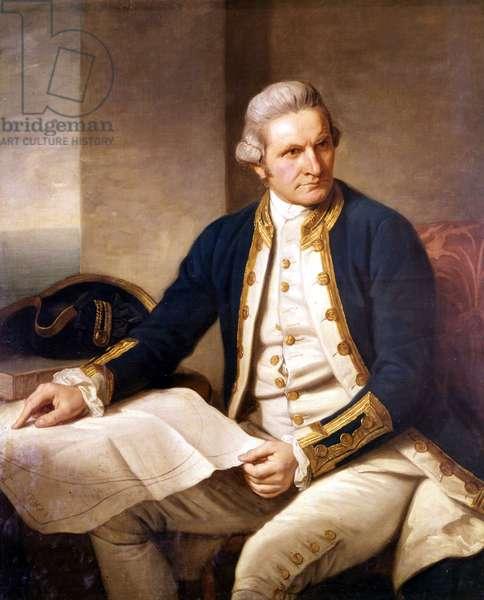 Portrait of James Cook (1728 - 1779), British navigator.