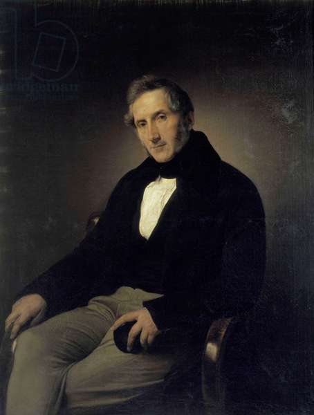 Alessandro Manzoni (1785 - 1873) - Painting by Francesco Hayez, 1841, Pinacoteca di Brera, Milan.