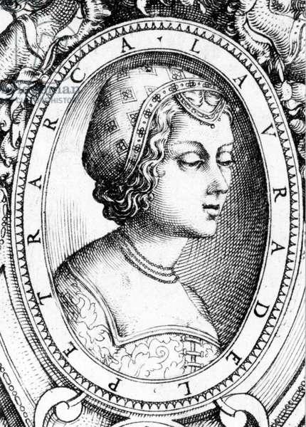 Laure de Noves, 16th century portrait. Milan, Spada collection.