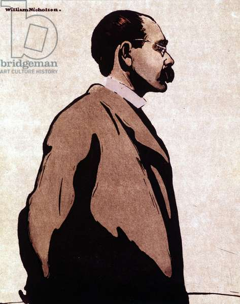 Portrait of Rudyard Kipling - by William Nicholson (1872-1949)