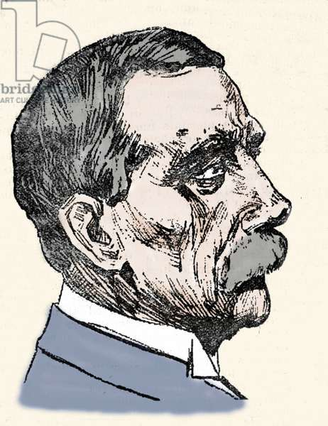 Portrait of John Davison Rockefeller (1839-1937), American industrialist.