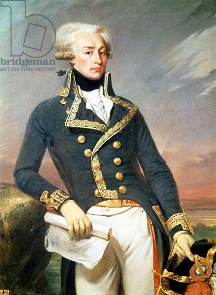 La Fayette (Lafayette) - portrait by J. Court